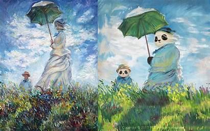 Artist Pandas Paintings Re Imagines Worthy Iconic