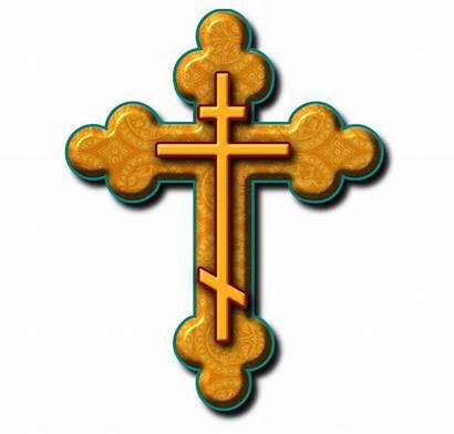 Orthodox Cross Russian Clipart Church Clip Christian