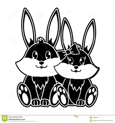 Download your collections in the code format compatible with all browsers, and use icons. Silhouette Rabbit Couple Cute Animal Together Stock Vector ...