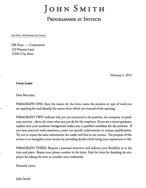 cover letter templates excel  formats