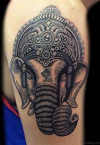 92 Lord Ganesha Tattoos On Shoulder
