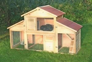 Kaninchenstall Für Draußen : kaninchenstall hasenstall emma auf 2 etagen 92x45x81 cm kleintier stall f r drau en der ~ Watch28wear.com Haus und Dekorationen