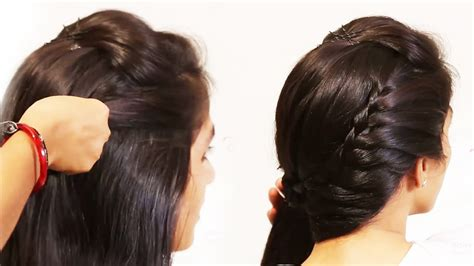 simple beautiful hairstyles side puff  trick