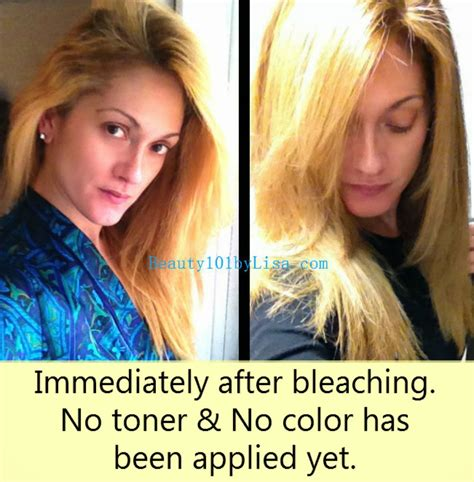 bleaching colored hair beauty101bylisa diy at home hair lightening