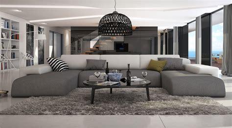 canapé confortable design ce grand canapé d 39 angle en u conférera à votre salon