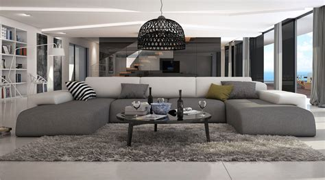 grand canapé d angle tissu ce grand canapé d 39 angle en u conférera à votre salon