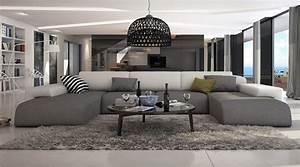 ce grand canape d39angle en u conferera a votre salon With grand canapé d angle en u