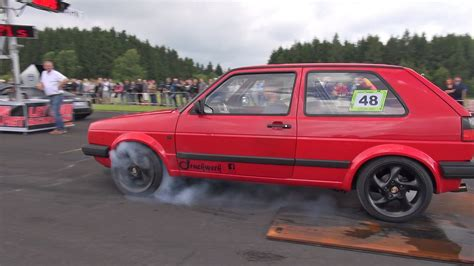 Vw Golf Competitors by Powerful 600hp Vw Golf 2 Vr6 Turbo Destroys The