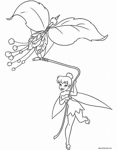 Bell Tinker Coloring Disney Pages Fairies Flying