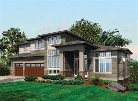 daylight basement home plans contemporary prairie with daylight basement 69105am