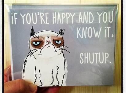 Cat Grumpy Meme Blank Valentines Envelope Memes