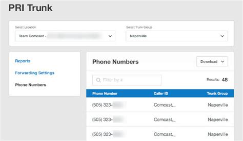comcast xfinity phone number view your comcast business trunks telephone numbers
