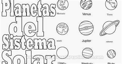 dibujos  colorear infantil planetas  colorear planetas del sistema solar  pintar