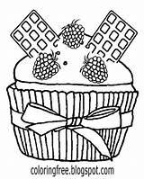 Coloring Drawing Cupcake Cinnamon Chocolate Bun Belgium Graham Cracker Cheesecake Colouring Cake Teens Draw Cartoon Printable Pastry Template Milk Easy sketch template