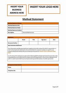 grounds maintenance method statement With electrical installation method statement template free