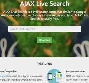 GitHub - iranianpep/ajax-live-search: AJAX Live Search is ...