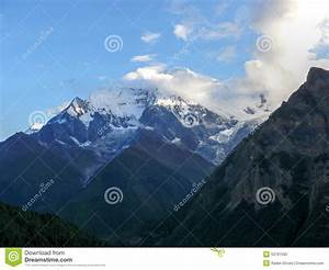 Annapurna 2 From Ghyaru In Morning, Nepal Stock Photo ...