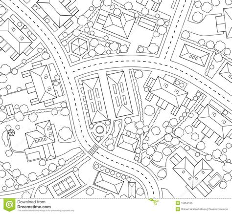 road map clipart black and white neighborhood outline royalty free stock photo image