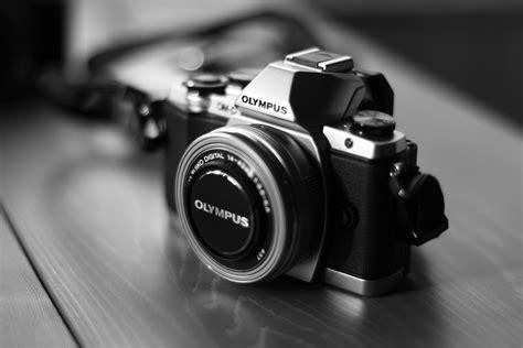 camera olympus digital camera black  white
