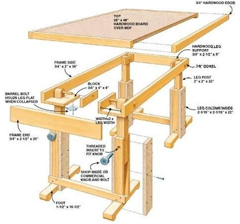 adjustable height table plans woodworking projects plans