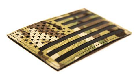 large multicam american flag  ir