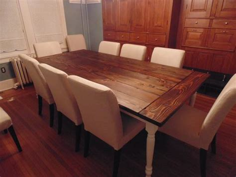 hand crafted reclaimed wood farmhouse table  beautiful