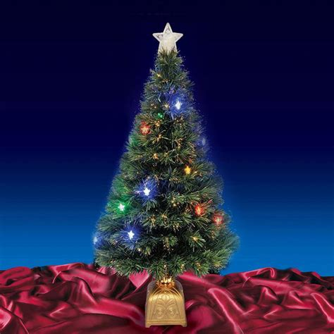beautiful 4ft 120cm green fibre optic christmas tree with