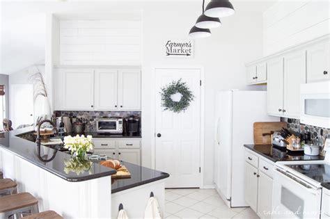 rustic gray farmhouse kitchen reveal  kitchen