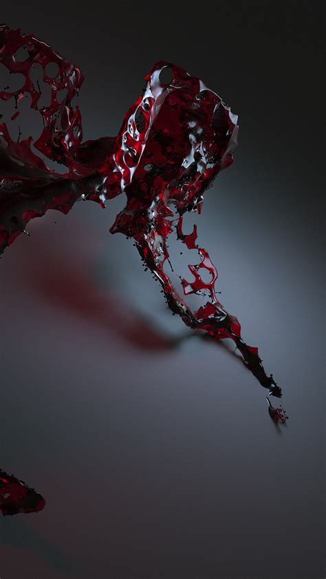wallpaper water  red hd abstract