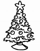 Coloring Christmas Tree sketch template