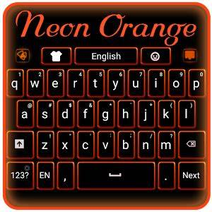 Download Neon Orange Keyboard for PC