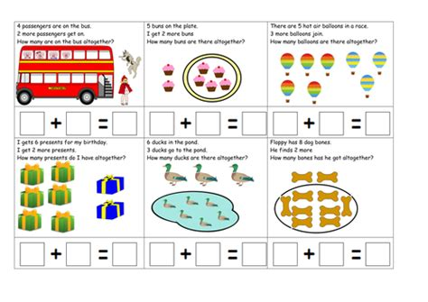 number stories addition focus by ruthbentham teaching resources tes - Division Worksheets Eyfs