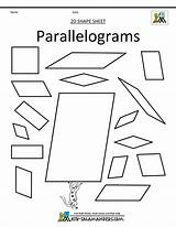 Parallelogram Parallelograms Shapes Printable Coloring Shape Trapezoids Math Clip 2d Template Sheets Grade sketch template