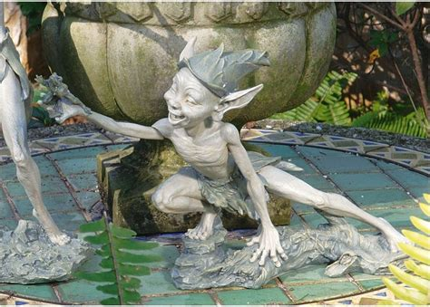 Mischievous Life Size Pixie With Frog Garden Sculpture