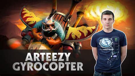 arteezy gyrocopter gameplay dota 2 youtube