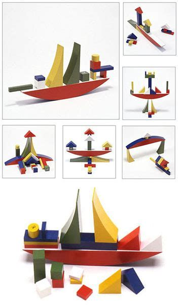 Naef Bauhaus Building Game: Bauspiel Wooden Blocks Toy