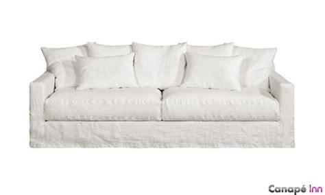 canapé blanc tissu canapé en froissé home spirit chez canapé inn