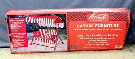 coca cola swing coca cola coke casual furniture deluxe backyard swing 63