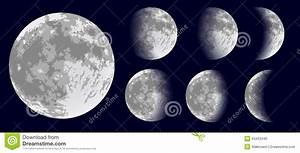 Moon Phases. Vector Illustration. Stock Vector