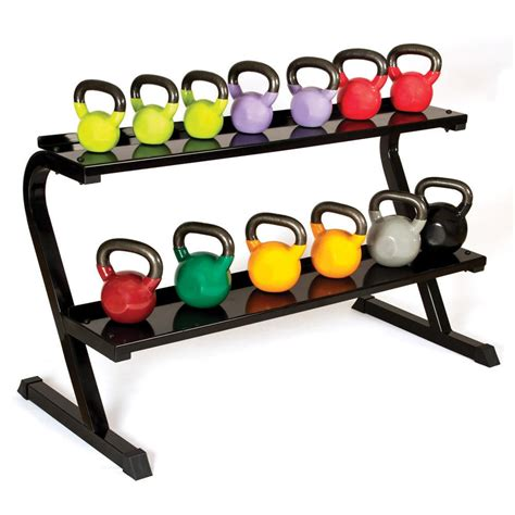 kettlebell rack sport body kettlebells weight storage racks mat adjustable shelf hold exercise floor