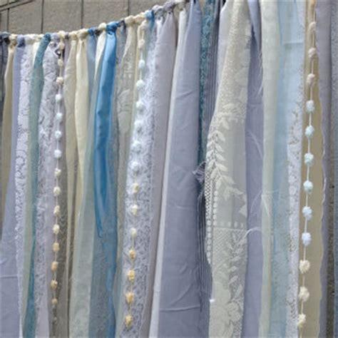 blue ivory grey fabric garland wedding from ohmycharley