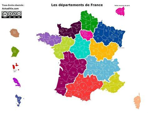 Carte De La Ville Et Departement by Carte Departements Avec Villes The Best Cart