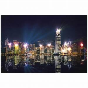 "lux.pro® Quadro da parete a LED Tela 60x40cm ""Hong Kong ..."