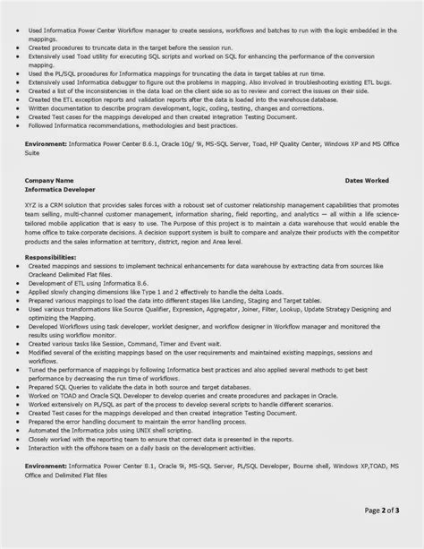Informatica Resume Points by Informatica Administration Cover Letter Template For A
