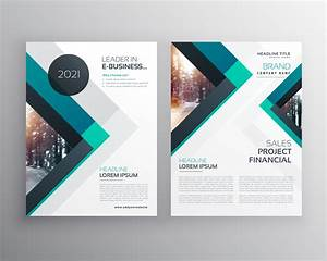 Abstract Blue Business Brochure Flyer Design Template With