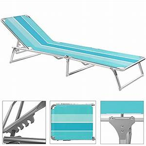 Transat De Plage Pliant Leger : chaise longue pliable noir bleu rose transat bain de ~ Dailycaller-alerts.com Idées de Décoration