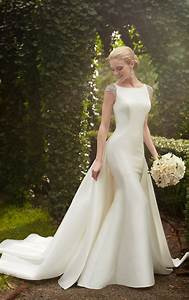 bridal gowns wedding dress with detachable train With wedding dress train