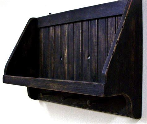 rustic amish black primitive shelf  shaker pegs