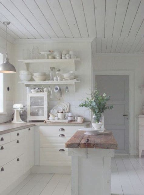 Kitchen Cabinet Decorating Ideas - 32 sweet shabby chic kitchen decor ideas to try shelterness
