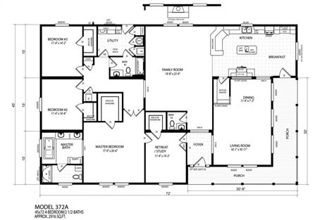 luxury new mobile home floor plans new home plans design